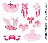 set of pink accessories for... | Shutterstock .eps vector #1429259660