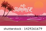 sillhouate land scape view of... | Shutterstock .eps vector #1429261679
