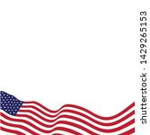flag american vector icon... | Shutterstock .eps vector #1429265153