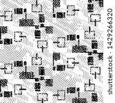 grunge halftone black and white ... | Shutterstock . vector #1429266320