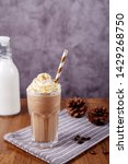 iced caramel latte coffee in a... | Shutterstock . vector #1429268750