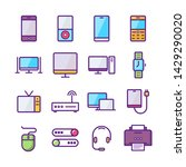 device line icon set.... | Shutterstock .eps vector #1429290020