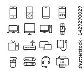 device line icon set.... | Shutterstock .eps vector #1429290029