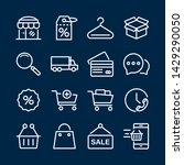 outline icons about shopping.... | Shutterstock .eps vector #1429290050