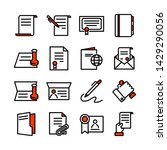 simple set of legal documents... | Shutterstock .eps vector #1429290056