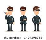 security guards  bodyguards  ...   Shutterstock .eps vector #1429298153