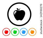 apple icon vector with four... | Shutterstock .eps vector #142930270