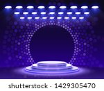 stage podium with lighting ... | Shutterstock .eps vector #1429305470
