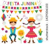 festa junina  traditional... | Shutterstock .eps vector #1429306103