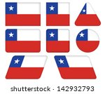 set of buttons with flag of... | Shutterstock .eps vector #142932793