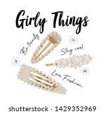illustration of trendy pearl... | Shutterstock .eps vector #1429352969