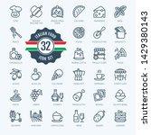 italy  italian food  italian... | Shutterstock .eps vector #1429380143