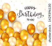 lettering happy birthday to you ... | Shutterstock .eps vector #1429396130