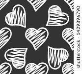 white hearts seamless pattern... | Shutterstock .eps vector #1429396790