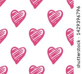 pink hearts seamless pattern on ... | Shutterstock .eps vector #1429396796