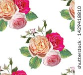 rose and hydrangea floral...   Shutterstock .eps vector #1429418810