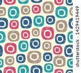seamless abstract ikat pattern...   Shutterstock .eps vector #1429419449