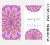 decorative floral greeting...   Shutterstock .eps vector #1429420796