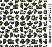 seamless halloween pattern....   Shutterstock .eps vector #1429422146
