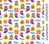 seamless halloween pattern....   Shutterstock .eps vector #1429429319
