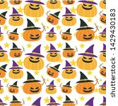 seamless halloween pattern....   Shutterstock .eps vector #1429430183