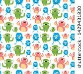 seamless halloween pattern....   Shutterstock .eps vector #1429431830