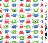 seamless halloween pattern ...   Shutterstock .eps vector #1429433243