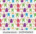 seamless halloween pattern....   Shutterstock .eps vector #1429436063