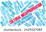 cultural misappropriation word... | Shutterstock .eps vector #1429437089