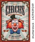 vintage circus poster with big...   Shutterstock .eps vector #1429439249