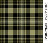 black and khaki  tartan plaid...   Shutterstock .eps vector #1429441280