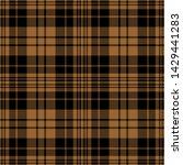 brown and black tartan plaid...   Shutterstock .eps vector #1429441283