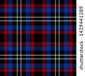 blue red black and white tartan ...   Shutterstock .eps vector #1429441289