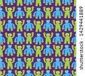 seamless halloween pattern....   Shutterstock .eps vector #1429441889