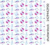 flat vector school pattern.... | Shutterstock .eps vector #1429442930