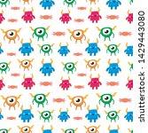 seamless halloween pattern....   Shutterstock .eps vector #1429443080