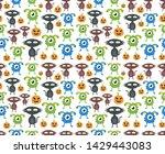 seamless halloween pattern....   Shutterstock .eps vector #1429443083
