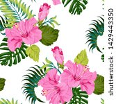 tropical seamless pattern with...   Shutterstock .eps vector #1429443350