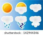 weather icons set. vector... | Shutterstock .eps vector #142944346