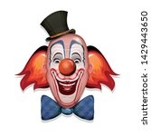 circus clown face  illustration ... | Shutterstock .eps vector #1429443650