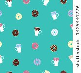 seamless pattern in cartoon...   Shutterstock .eps vector #1429444229