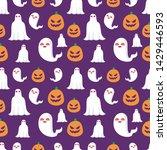 seamless halloween pattern....   Shutterstock .eps vector #1429446593