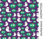 seamless halloween pattern....   Shutterstock .eps vector #1429447520