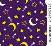 vector cartoon hand drawn moon...   Shutterstock .eps vector #1429447529