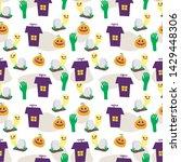 seamless halloween pattern....   Shutterstock .eps vector #1429448306