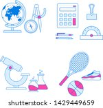 school subjects vector... | Shutterstock .eps vector #1429449659