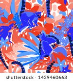 the wild lemurs sitting among...   Shutterstock .eps vector #1429460663