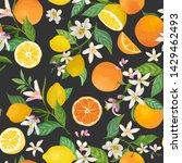 seamless lemon and orange...   Shutterstock .eps vector #1429462493