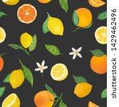 seamless lemon and orange...   Shutterstock .eps vector #1429462496