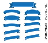 set of blue ribbon banner icon...   Shutterstock .eps vector #1429462703